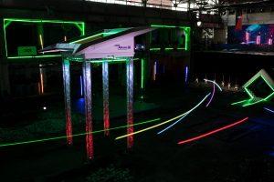 Drohnenparcours in der Halle