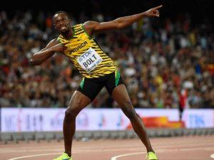 Usain Bolt in Siegerpose