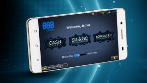 Android Smartphone mit der 888poker App