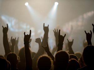Fans bei einem Metal Konzert