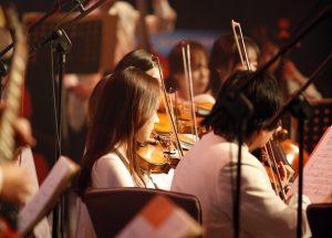 Orchester beim Spielen