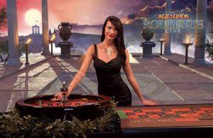 Live Dealer beim Hall of the Gods Live Roulette von Playtech