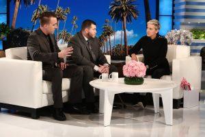 Stephen Schuck und Jesus Campos im Interview mit Ellen DeGeneres