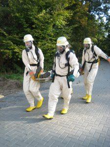 Strahlenschutzfachleute bei der Arbeit