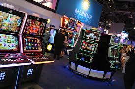Merkur Spielautomaten auf einer Ausstellung