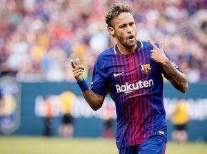 Fußballer Neymar auf dem Platz