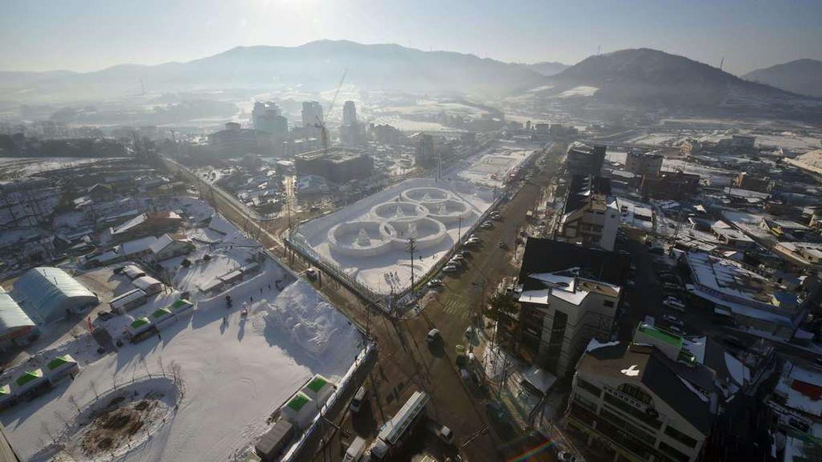 Die Olympiaanlage in Südkorea 2018