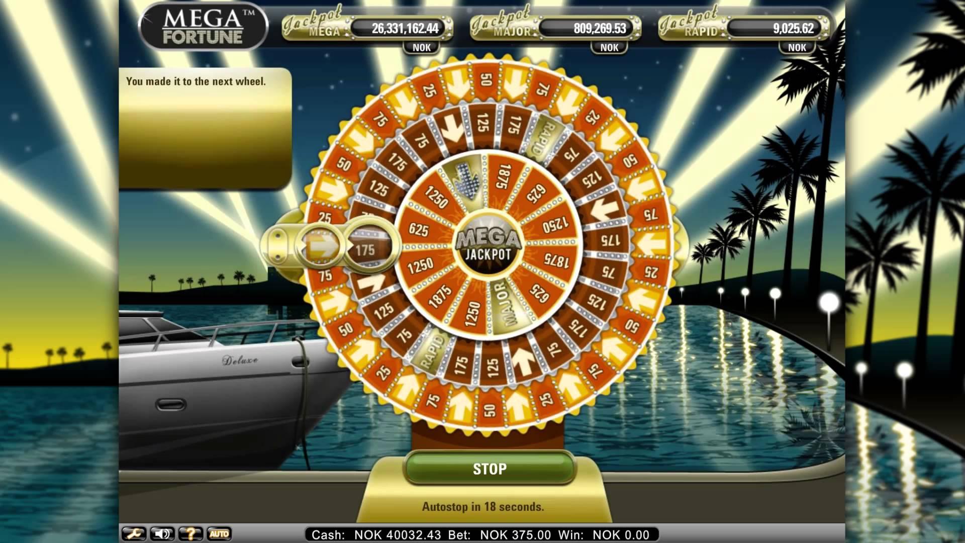 Bonusrunde beim Mega Fortune Slot von NetEnt