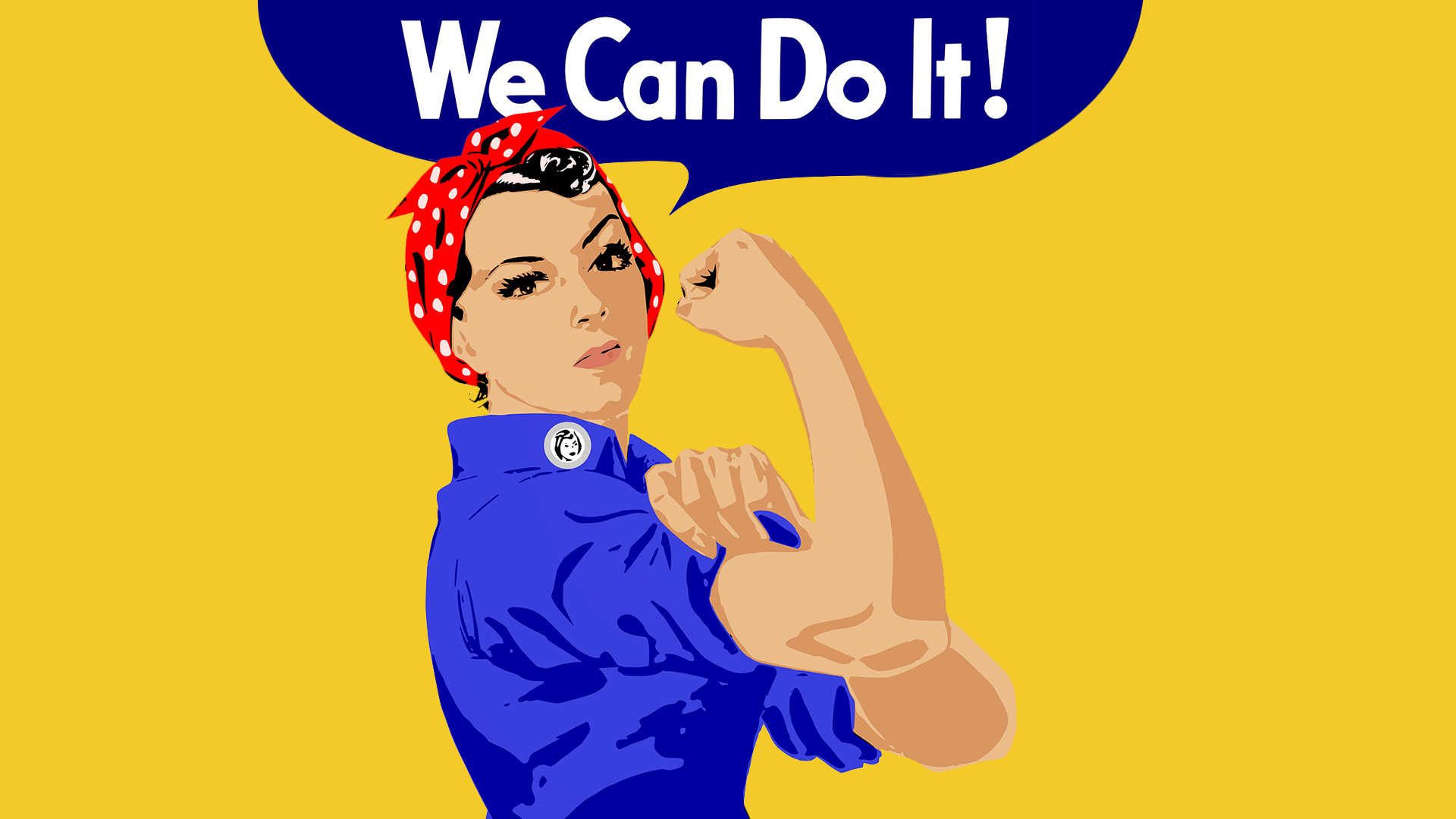 We Can Do It Poster mit Rosie the Riveter