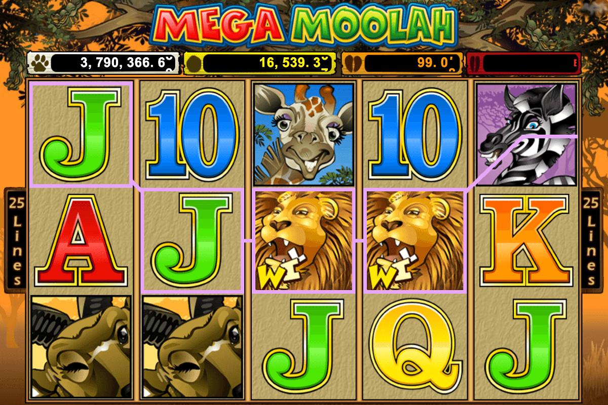 Gewinnlinen Mega Moolah