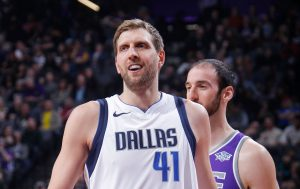 Basketballer Dirk Nowitzki bei den Dallas Mavericks