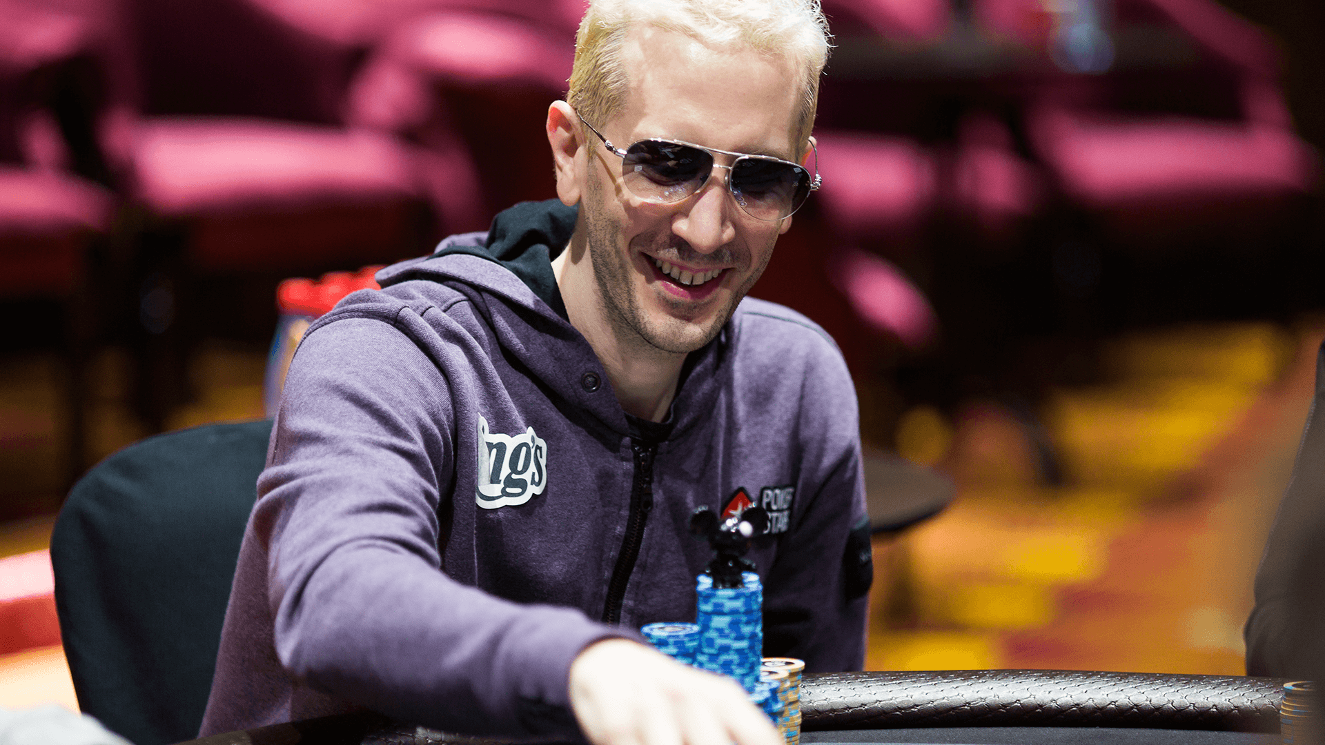 "Pokerspieler Bertrand ""ElkY"" Grospellier für PokerStars"