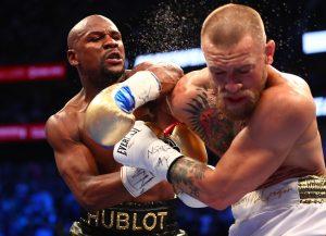 McGregor und Mayweather beim Kampf