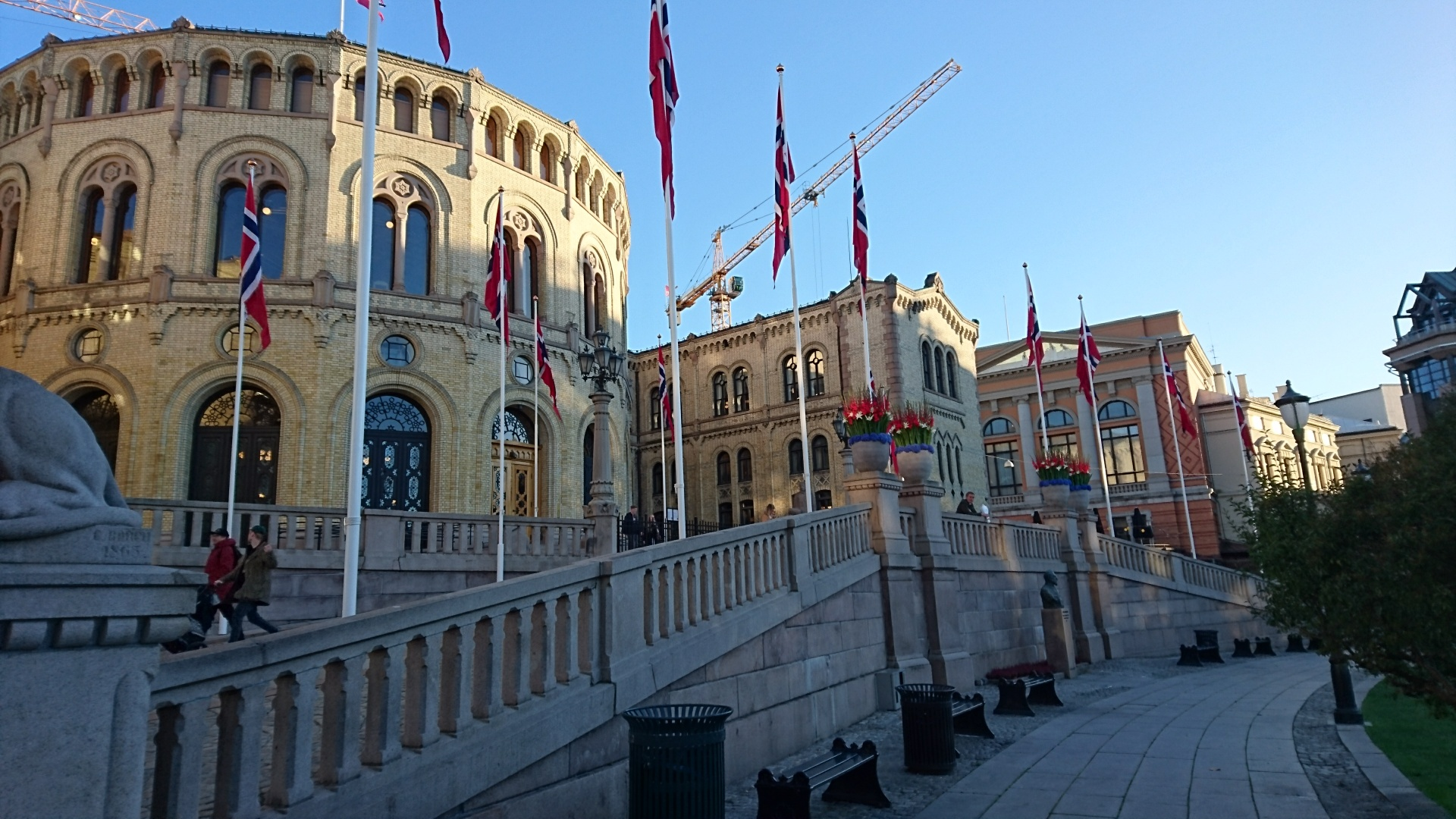 Das norwegische Parlament Storting in Oslo
