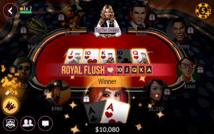 Social Poker Game für Mobilgeräte