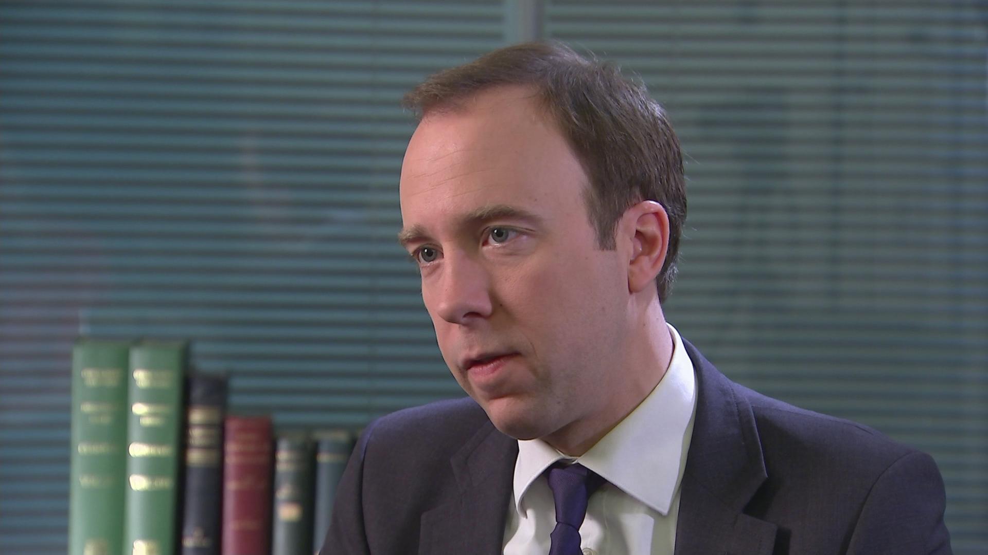 Politiker Matt Hancock aus UK