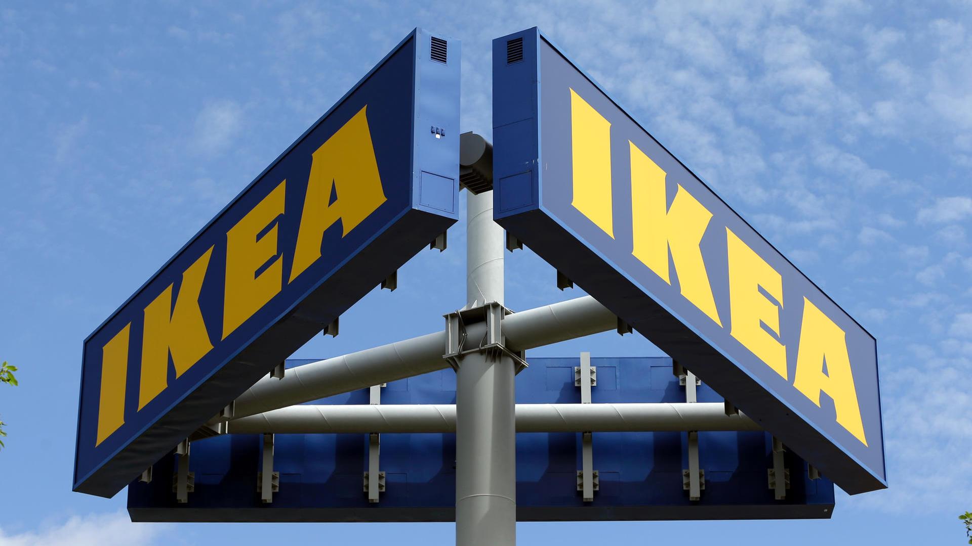 Das IKEA Logo in blau-gelb