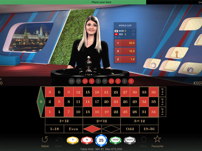 Das neue NetEnt Live Sports Betting Widget im Live Casino
