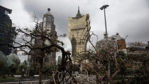 Macau nach dem Taifun Hato