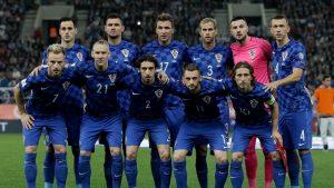 Kroatische Mannschaft in der Qualifikation