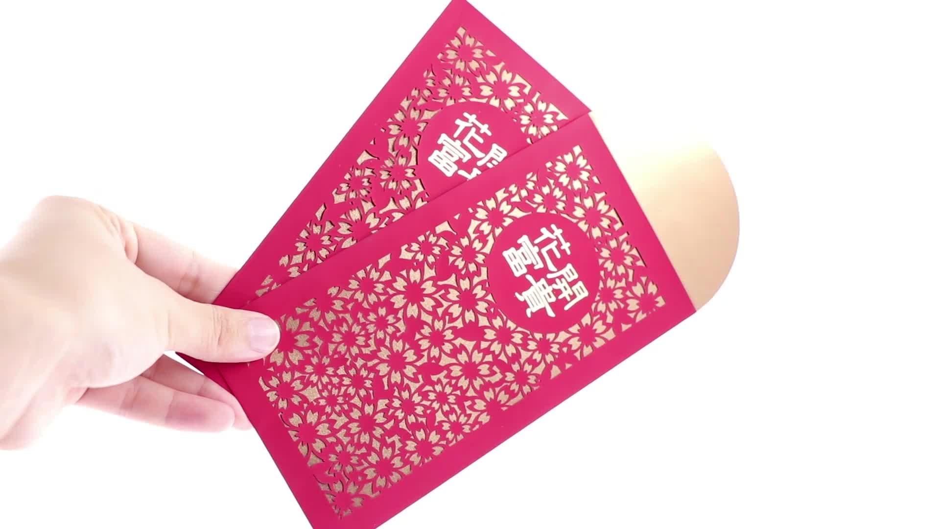 Klassische Hong Bao Umschläge mit Geld
