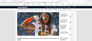 sports illustrated screenshot