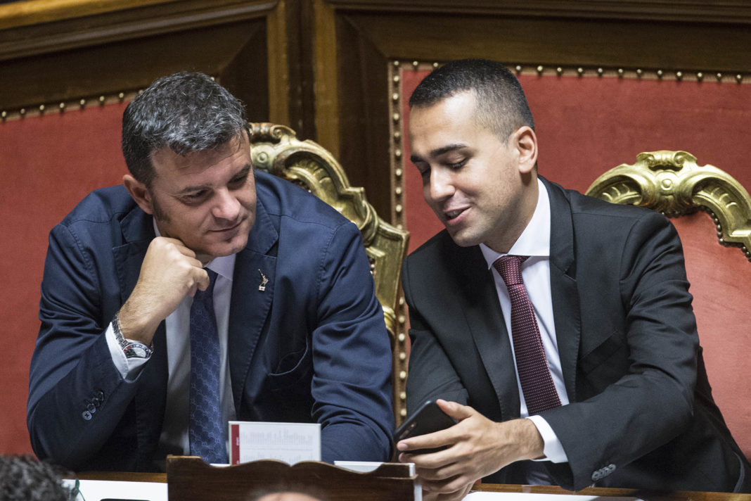 Gian Marco Centinaio und Luigi Di Mario im Senatorensaal