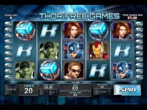Avengers Slot von Playtech