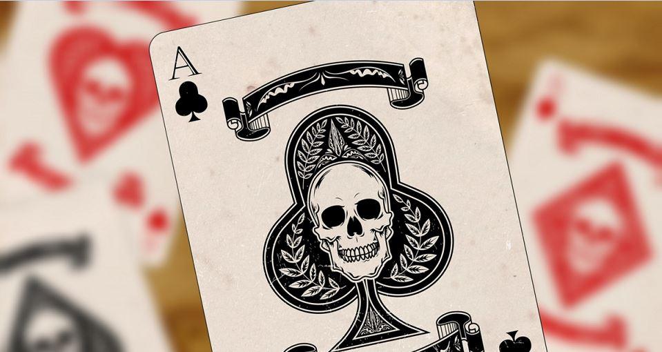 Spielkarte As, Totenkopf