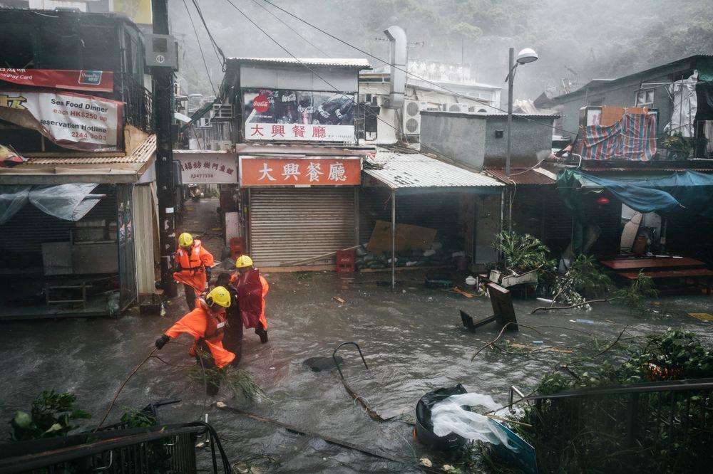 Verwüstung in Macau durch Taifun Mangkhut