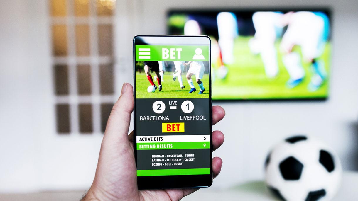 smartphone fernseher fußball