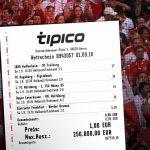 Tipper gewinnt mit nur 1 € Einsatz bei Kombi-Wette 250.000 €