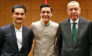 Ilkay Gündoğan, Mesut Özil, Recep Tayyip Erdoğan