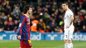 Messi und Ronaldo bei Spiel
