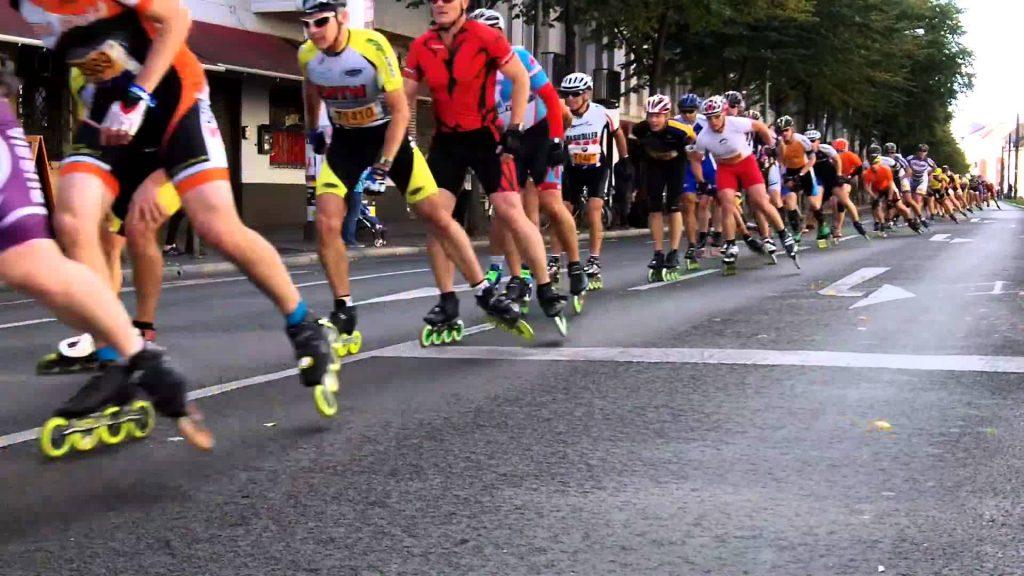 Inline Skater beim Berlin Marathon