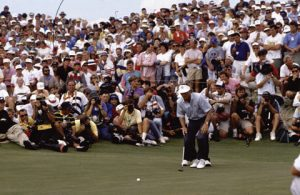 Golfer Langer 1991 beim Ryder Cup