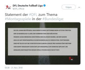 Statement der DFL zum Thema Montagsspiele