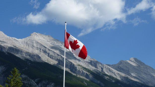 Flagge Kanada, Berge)
