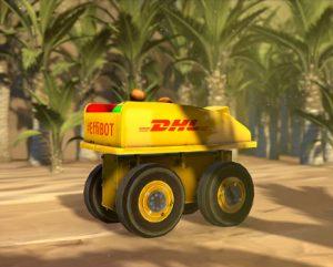 DHL-Werbung