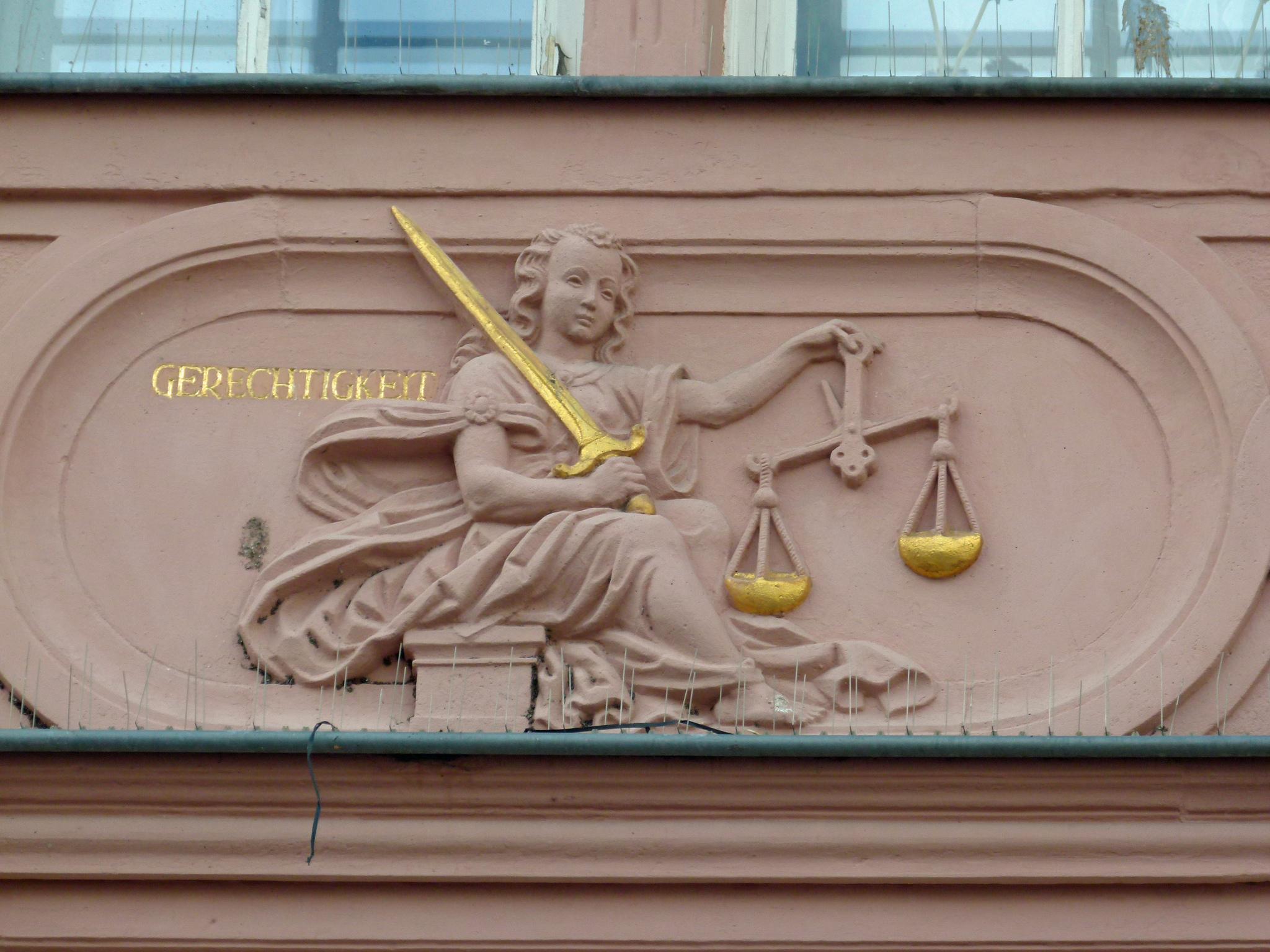 Justizia, Symbol Gerechtigkeit Recht