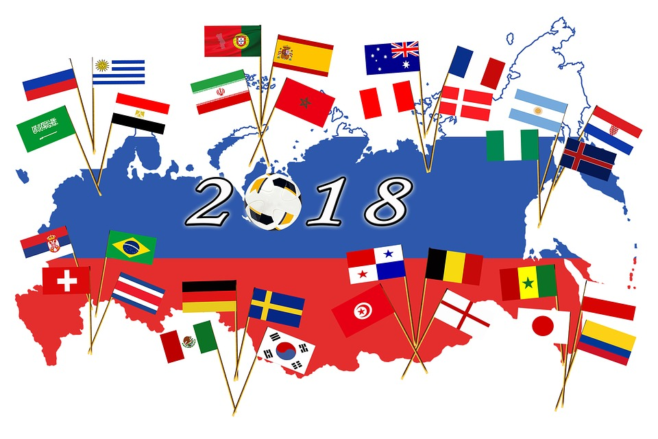 Fußball 2018 Flaggen