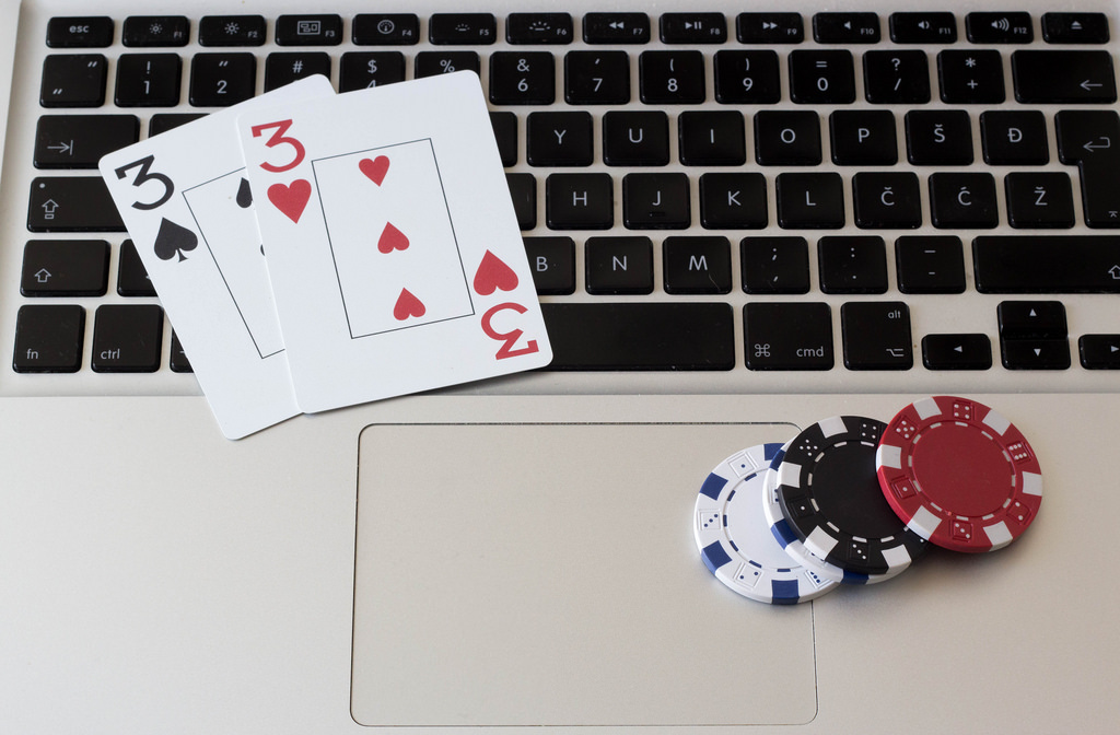 Tastatur Spielkarten Jetons