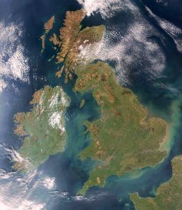 Großbritannien Satellitenbild