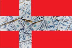 Dänische Flagge Geld