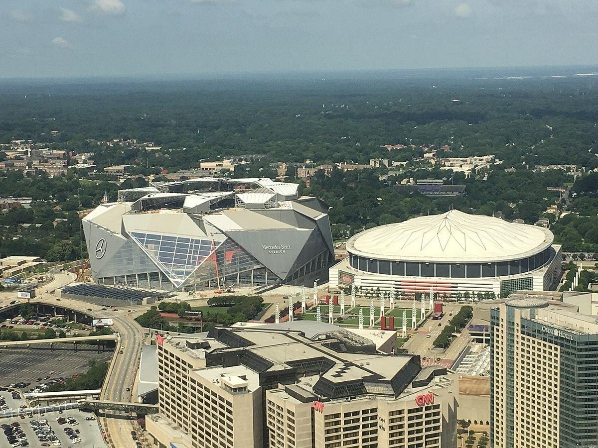 Mercedes-Benz Stadion und Georgia Dome