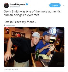 Twitter Post Daniel Negreanu
