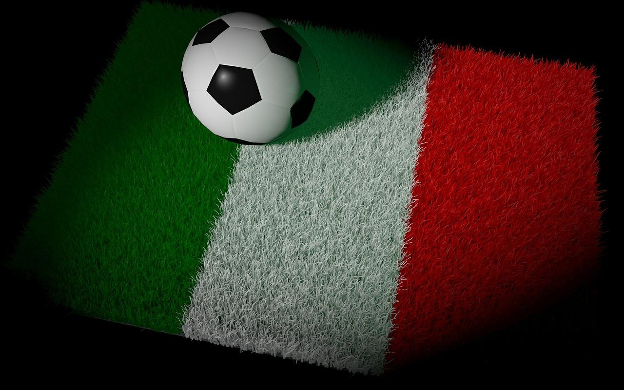 Italienische Flagge Fußball