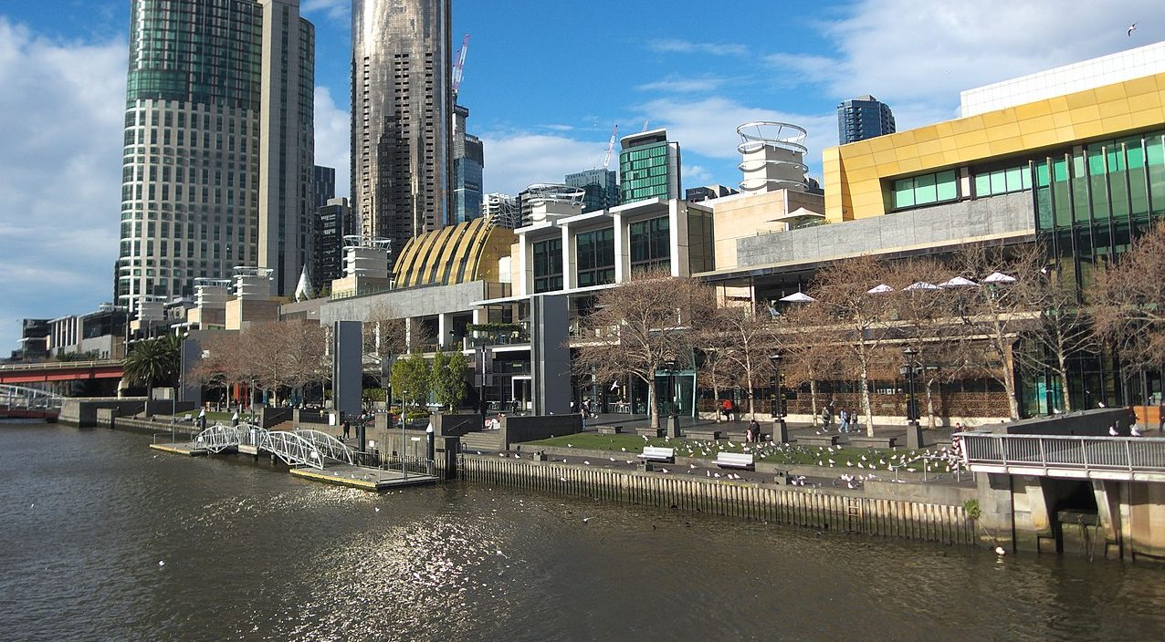 Casino Casino Melbourne mit Bäumen