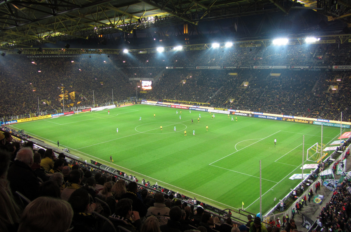 Spieler Fußballstadion Dortmund