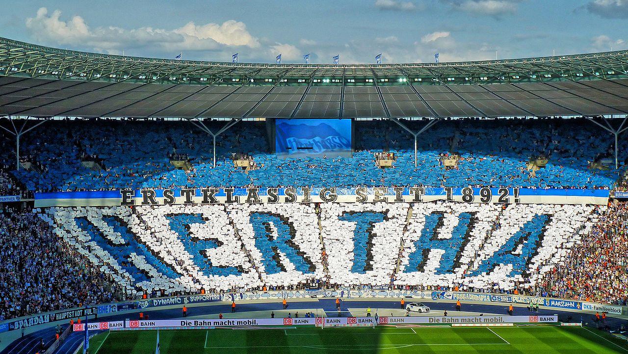 Hertha BSC Fans im Olympiastadion
